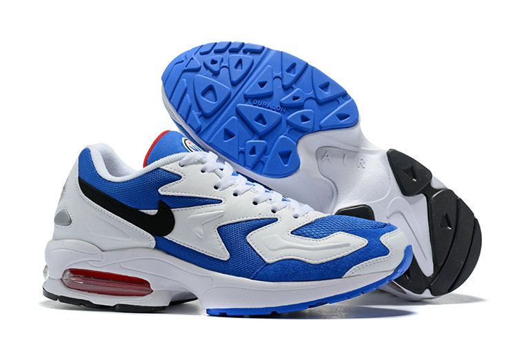 Cheap Wholesale Nike Air Max 2 Light Blue Black White- www.wholesaleflyknit.com