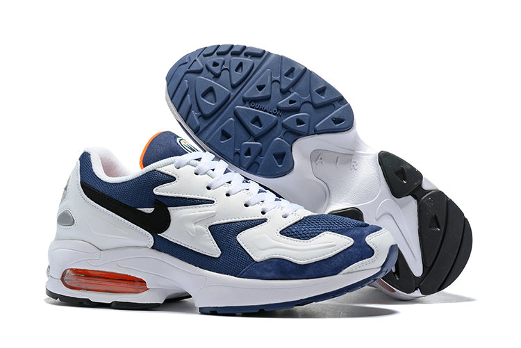 Cheap Wholesale Nike Air Max 2 Light Blue White Black- www.wholesaleflyknit.com