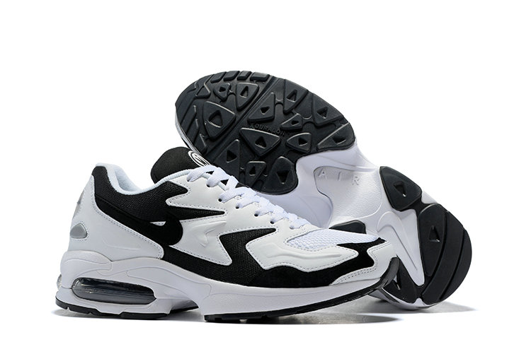 Cheap Wholesale Nike Air Max 2 Light White Black- www.wholesaleflyknit.com