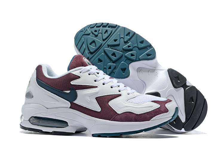 Cheap Wholesale Nike Air Max 2 Light Wine Red White Black- www.wholesaleflyknit.com