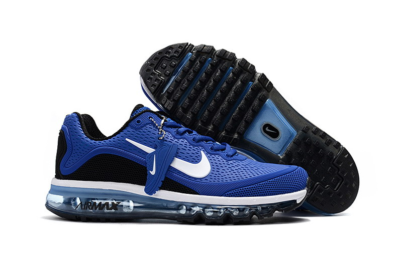 Wholesale Cheap Nike Air Max 2017 Mens Black Blue White Running Shoes - www.wholesaleflyknit.com