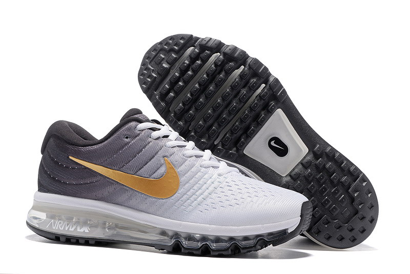Wholesale Cheap Nike Air Max 2017 Mens Gold Grey White Black Running Shoes - www.wholesaleflyknit.com