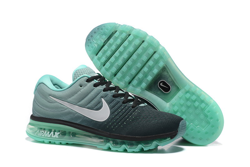 Wholesale Cheap Nike Air Max 2017 Mens Grass Green Grey Black Running Shoes - www.wholesaleflyknit.com