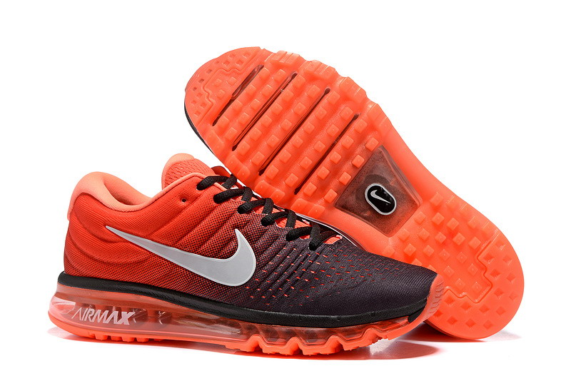 Wholesale Cheap Nike Air Max 2017 Mens Orange Grey Black Running Shoes - www.wholesaleflyknit.com