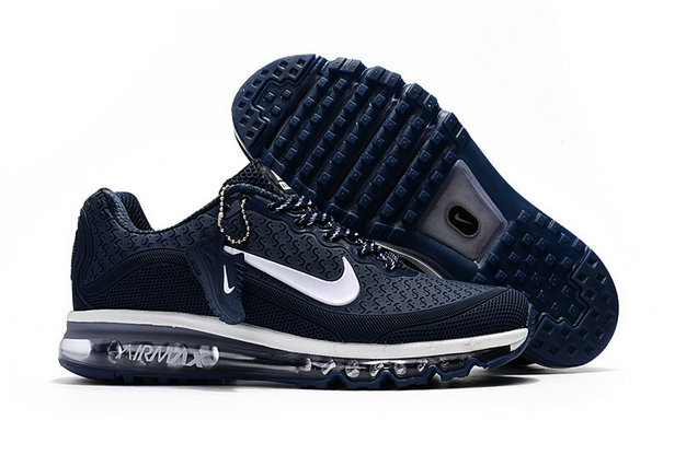 Wholesale Cheap Nike Air Max 2017 Mens Rubber Patch Navy Blue White - www.wholesaleflyknit.com