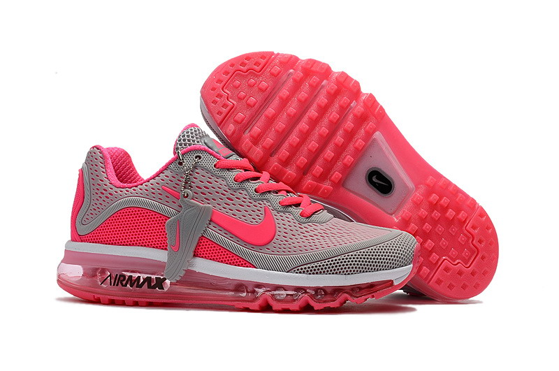 Wholesale Cheap Nike Air Max 2017 Womens Grey Pink Running Shoes - www.wholesaleflyknit.com