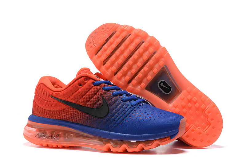 Wholesale Cheap Nike Air Max 2017 Womens Royal Blue Orange Red Running Shoes - www.wholesaleflyknit.com