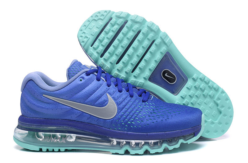 Wholesale Cheap Nike Air Max 2017 Womens Running Shoes Blue Grey Grass Green - www.wholesaleflyknit.com