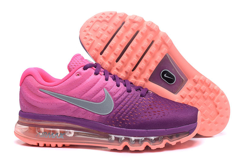 Wholesale Cheap Nike Air Max 2017 Womens Running Shoes Purple Grey Orange - www.wholesaleflyknit.com