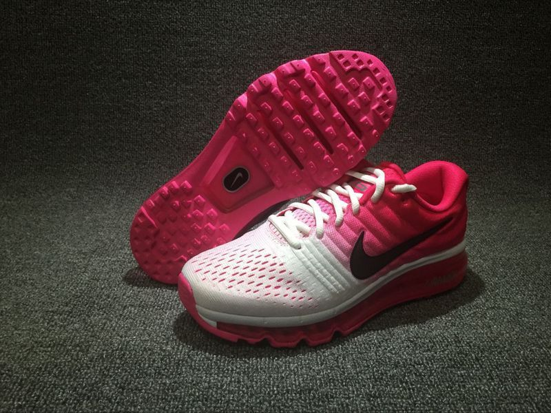Wholesale Cheap Nike Air Max 2017 Womens Running Shoes White Pink Black - www.wholesaleflyknit.com