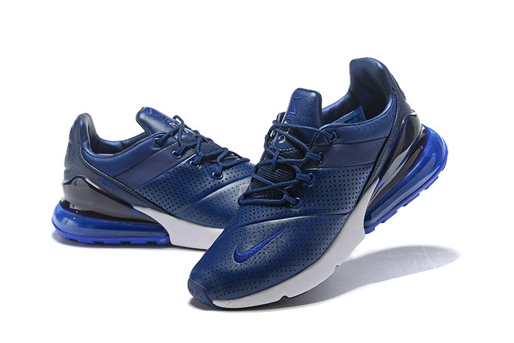 Cheap Wholesale Nike Air Max 270 Leather Royal Blue White- www.wholesaleflyknit.com