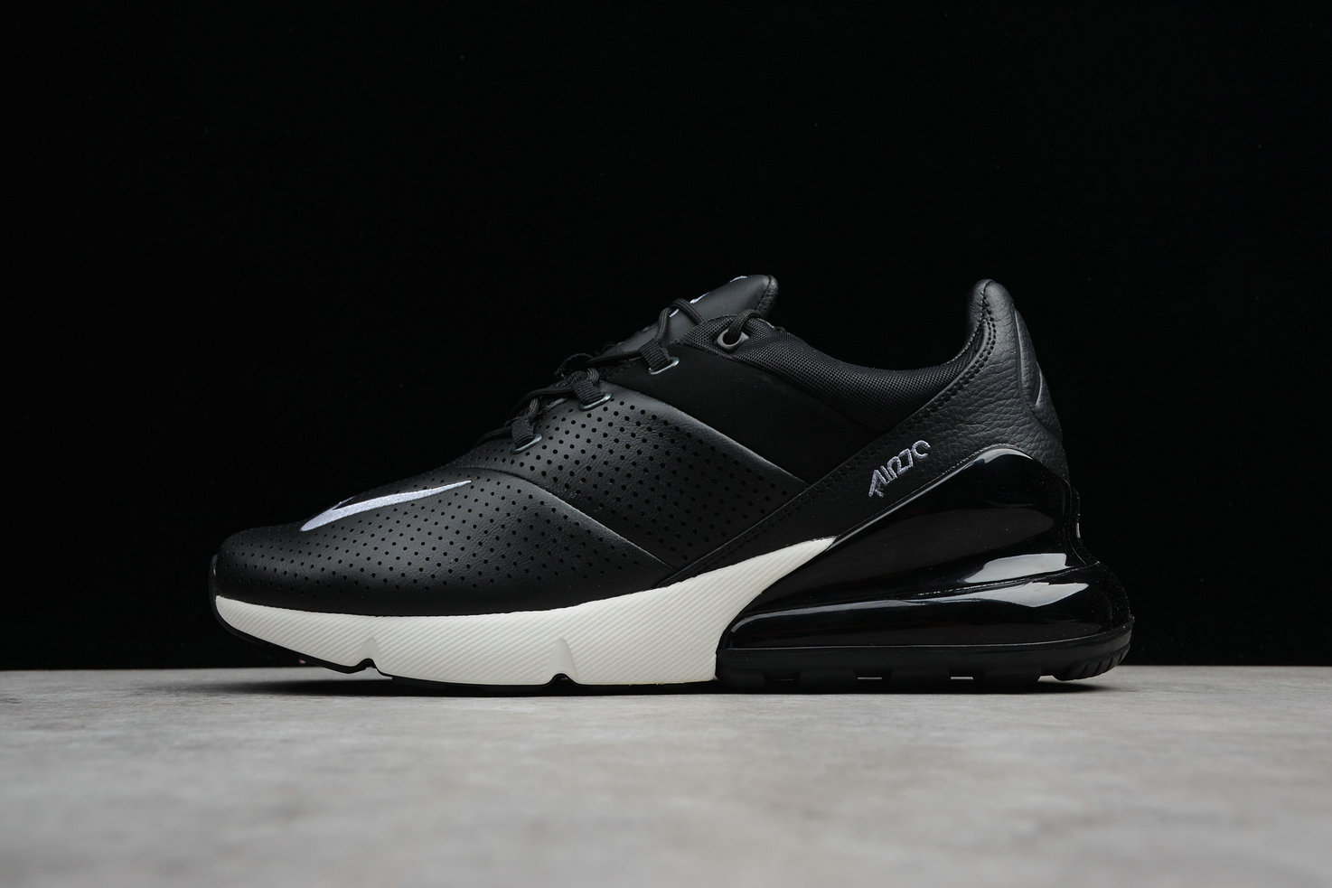Cheap Wholesale Nike Air Max 270 Premium AO8283-001 Black Ligt Carbon Sail Noir Voile Carbone Clair- www.wholesaleflyknit.com