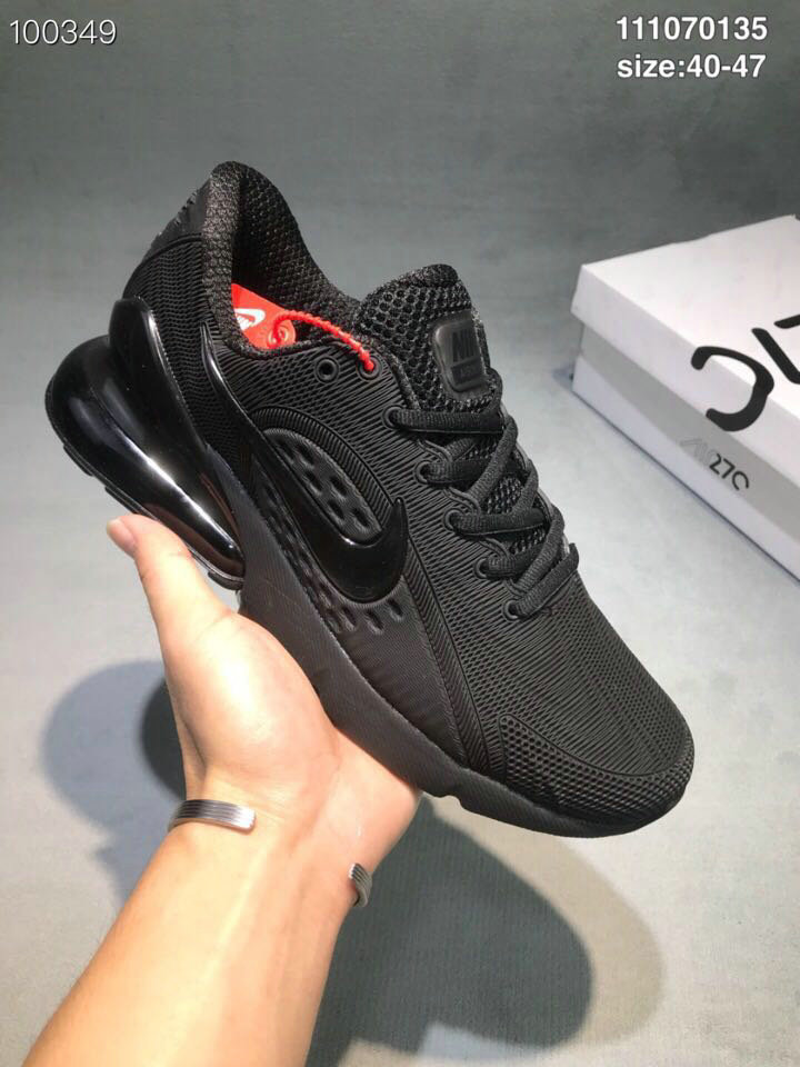 Wholesale Cheap Nike Air Max 270 RUBBER LABEL Dark Grey Black-www.wholesaleflyknit.com