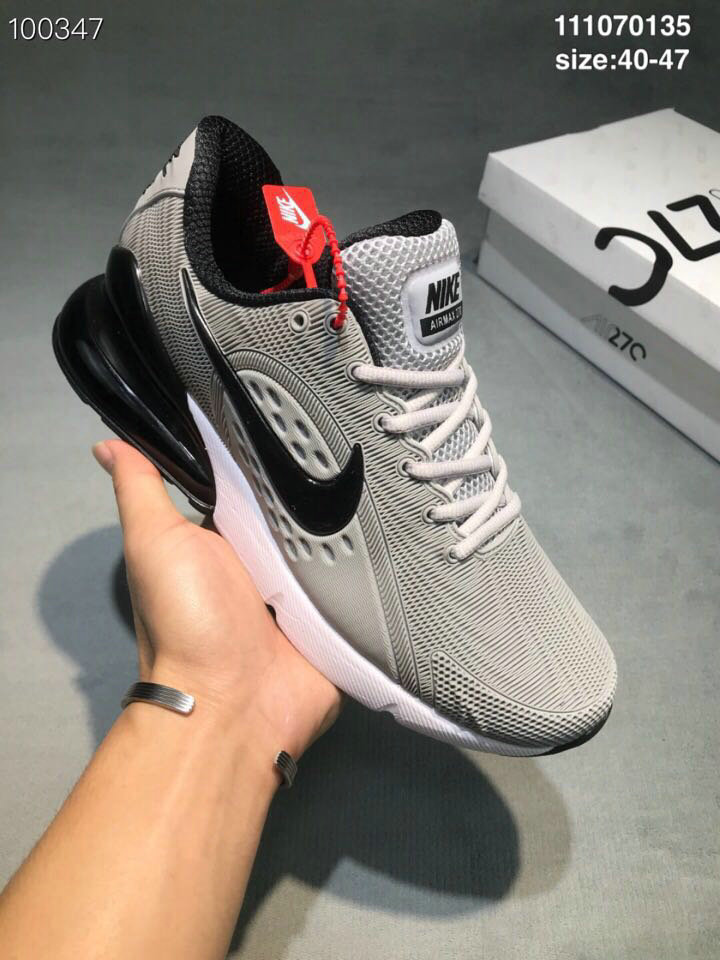 Wholesale Cheap Nike Air Max 270 RUBBER LABEL Grey Black-www.wholesaleflyknit.com