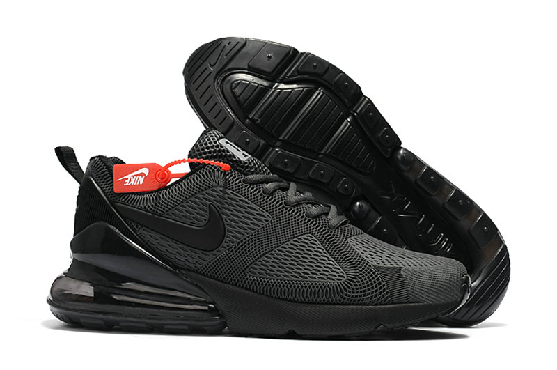 Cheap Wholesale Nike Air Max 270 Running Shoes Rubber Label All Black- www.wholesaleflyknit.com