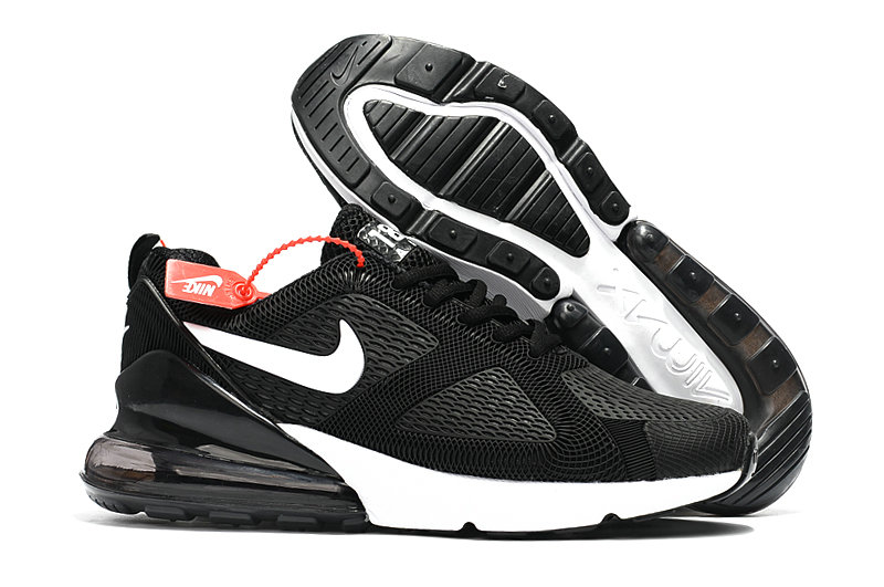 Cheap Wholesale Nike Air Max 270 Running Shoes Rubber Label Black White- www.wholesaleflyknit.com