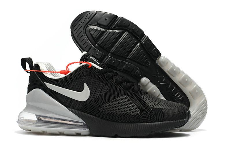 Cheap Wholesale Nike Air Max 270 Running Shoes Rubber Label Cool Grey Black- www.wholesaleflyknit.com