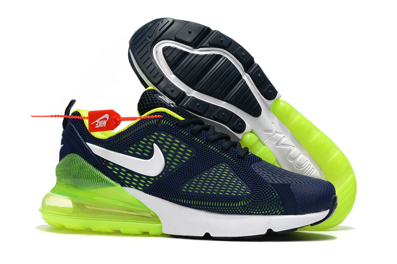 Cheap Wholesale Nike Air Max 270 Running Shoes Rubber Label Navy Blue Green- www.wholesaleflyknit.com