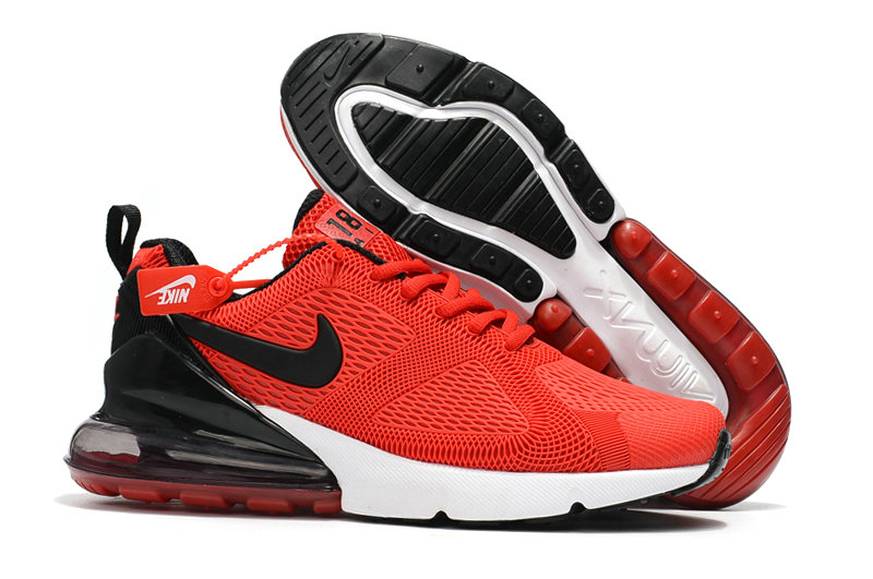 Cheap Wholesale Nike Air Max 270 Running Shoes Rubber Label Red Black White- www.wholesaleflyknit.com