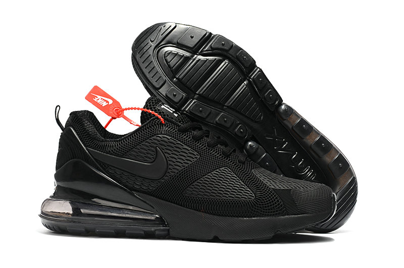 Cheap Wholesale Nike Air Max 270 Running Shoes Rubber Label Triple Black- www.wholesaleflyknit.com