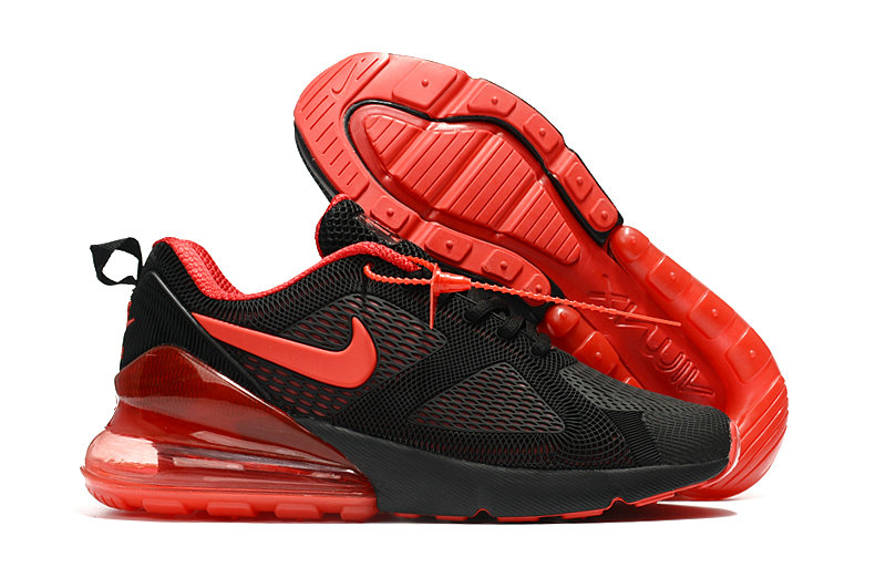 Cheap Wholesale Nike Air Max 270 Running Shoes Rubber Label University Red Black- www.wholesaleflyknit.com