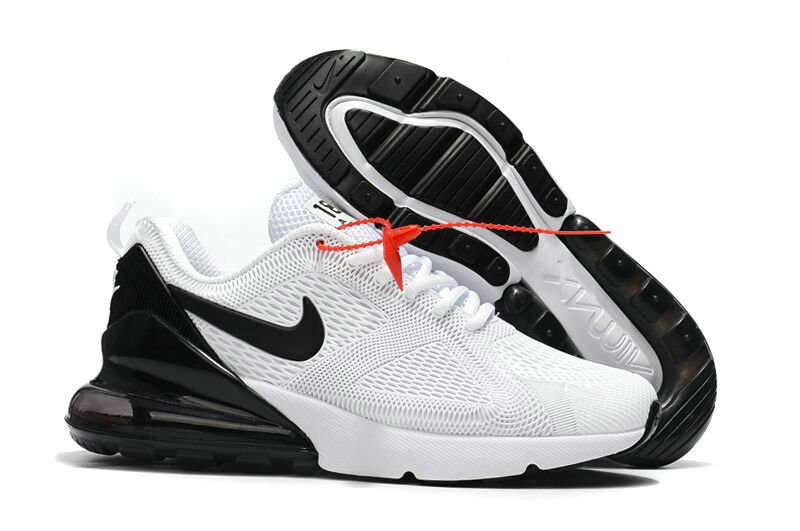 Cheap Wholesale Nike Air Max 270 Running Shoes Rubber Label White Black- www.wholesaleflyknit.com