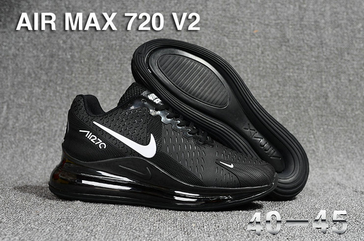 Wholesale Cheap Nike Air Max 270 x Air Max 720 Black White-www.wholesaleflyknit.com