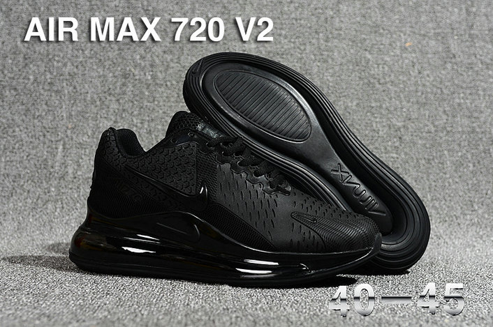 Wholesale Cheap Nike Air Max 270 x Air Max 720 Triple Black-www.wholesaleflyknit.com