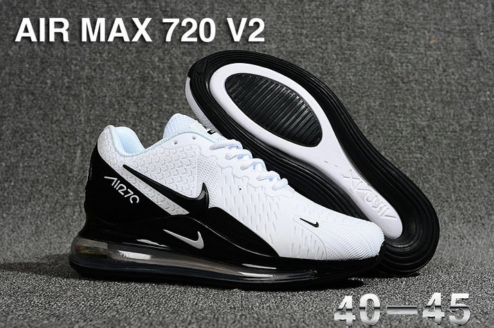 Wholesale Cheap Nike Air Max 270 x Air Max 720 White Black-www.wholesaleflyknit.com