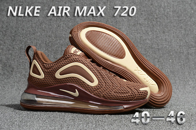 Cheap Wholesale Nike Air Max 720 Rice Brown- www.wholesaleflyknit.com
