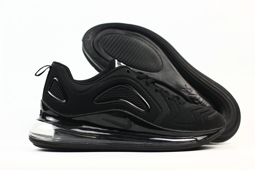 Cheap Wholesale Nike Air Max 720 Rubber Patch All Black- www.wholesaleflyknit.com