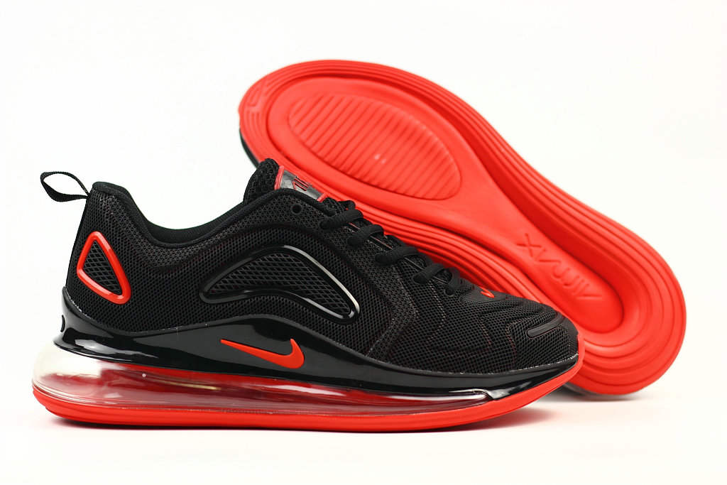 Cheap Wholesale Nike Air Max 720 Rubber Patch Fire Red Black- www.wholesaleflyknit.com