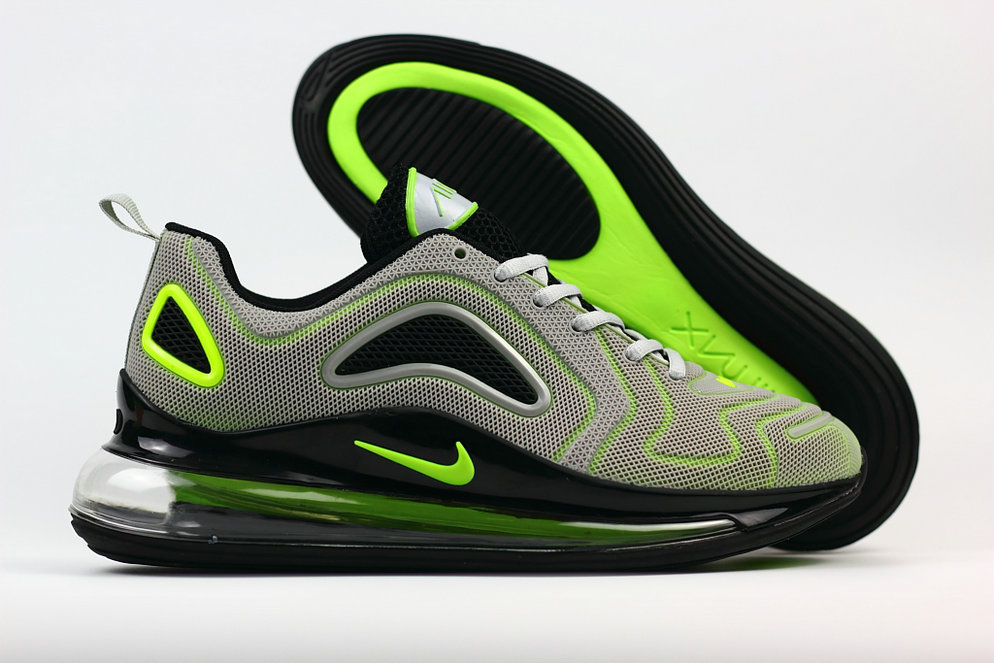 Cheap Wholesale Nike Air Max 720 Rubber Patch Fluorescent Green Grey- www.wholesaleflyknit.com