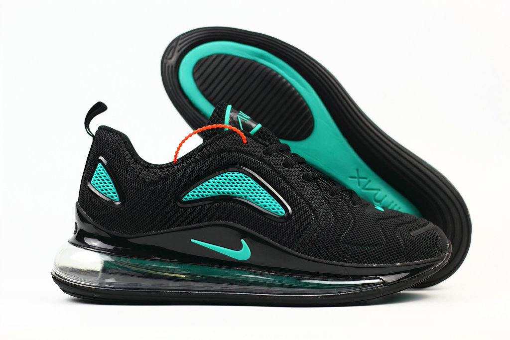 Cheap Wholesale Nike Air Max 720 Rubber Patch Jet Black- www.wholesaleflyknit.com
