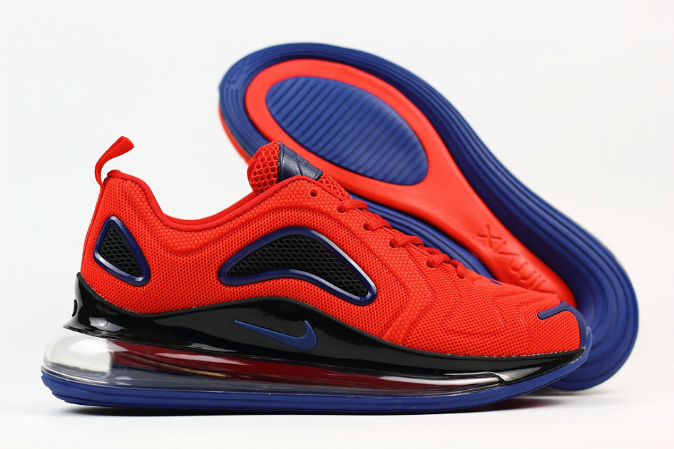Cheap Wholesale Nike Air Max 720 Rubber Patch Red Black Blue- www.wholesaleflyknit.com
