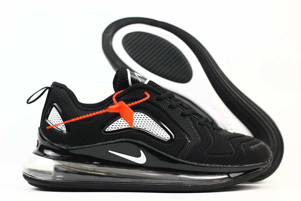 Cheap Wholesale Nike Air Max 720 Rubber Patch White Black- www.wholesaleflyknit.com