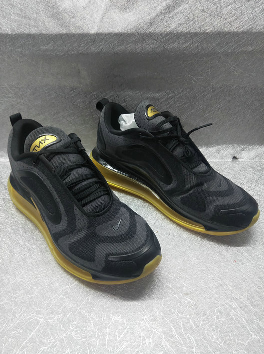 Cheapest Wholesale Nike Air Max 720 Run 2019 New Arrival Black Golden - www.wholesaleflyknit.com