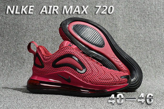 Cheap Wholesale Nike Air Max 720 Wine Red Black- www.wholesaleflyknit.com