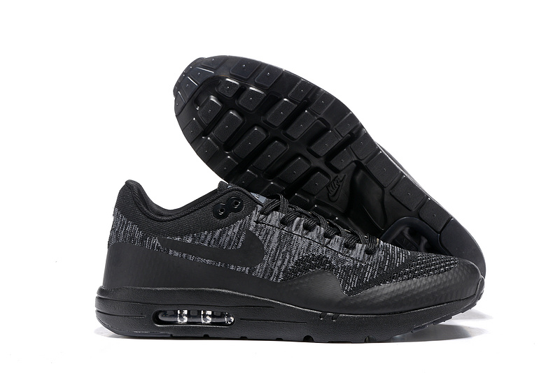 Wholesale Cheap Nike Air Max 87 Mens Black Grey Running Shoes - www.wholesaleflyknit.com
