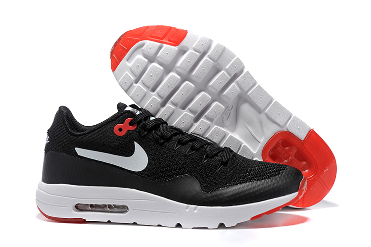 Wholesale Cheap Nike Air Max 87 Mens Black Red White Running Shoes - www.wholesaleflyknit.com