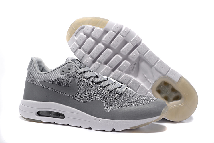 Wholesale Cheap Nike Air Max 87 Mens Grey White Running Shoes - www.wholesaleflyknit.com