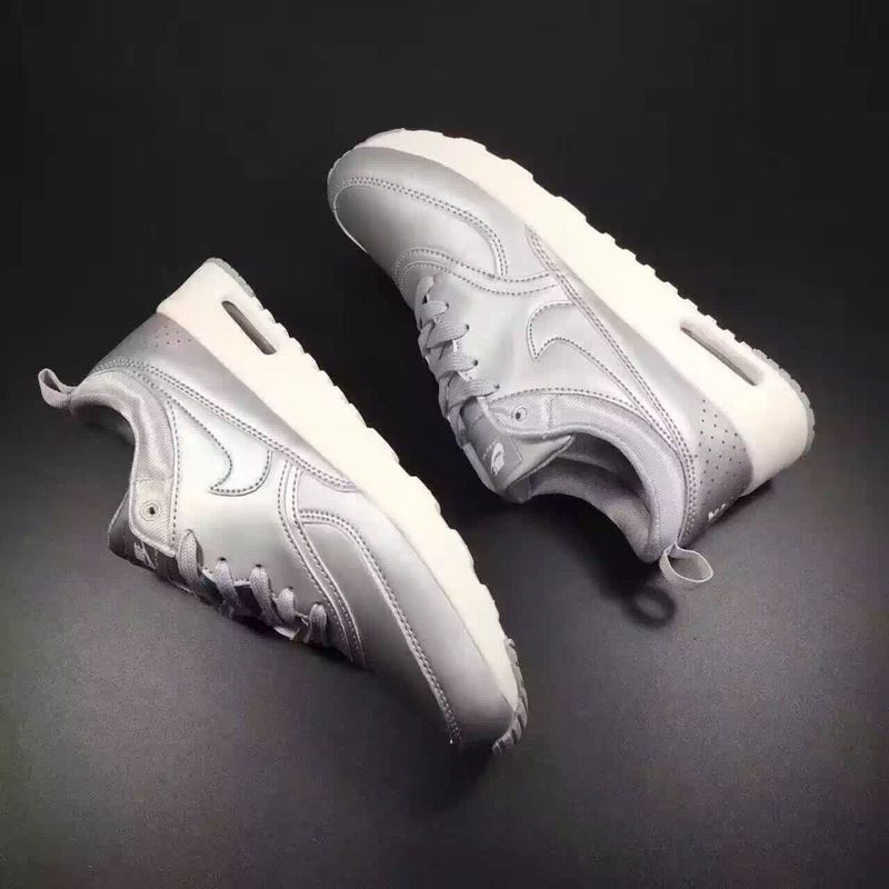 Wholesale Cheap Nike Air Max 87 Mens Leather Silver White - www.wholesaleflyknit.com