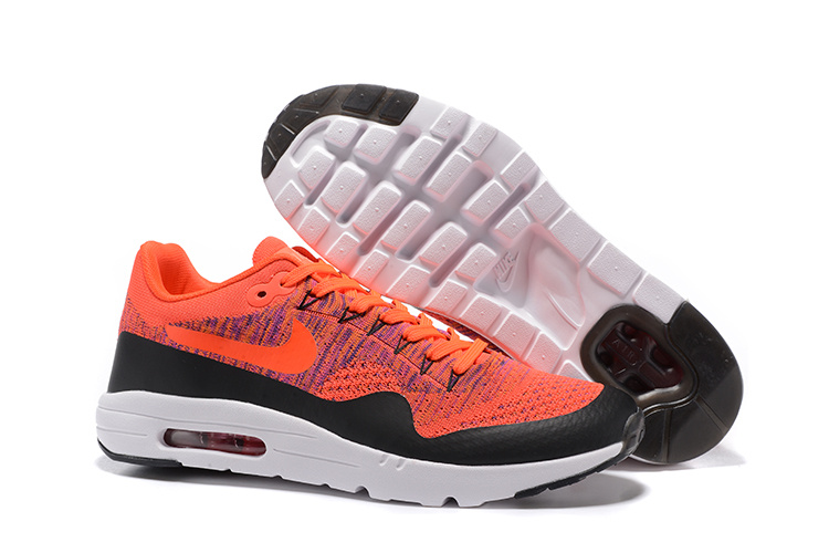 Wholesale Cheap Nike Air Max 87 Mens Orange Black White Running Shoes - www.wholesaleflyknit.com