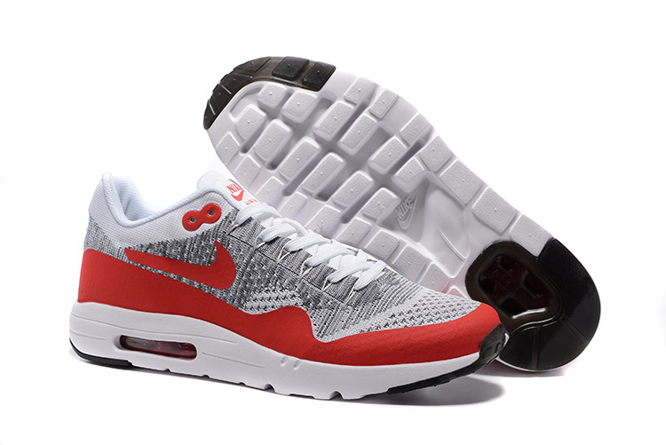 Wholesale Cheap Nike Air Max 87 Mens Red Grey White Black Running Shoes - www.wholesaleflyknit.com