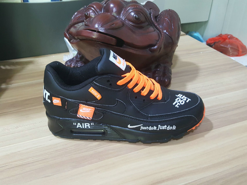 Cheap Wholesale Nike Air Max 90 x Air Max 87 Fushion Black Orange On www.wholesaleoffwhite.com