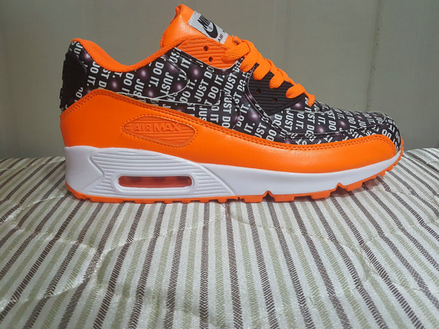 Cheap Wholesale Nike Air Max 90 x Air Max 87 Fushion Orange Black White On www.wholesaleoffwhite.com