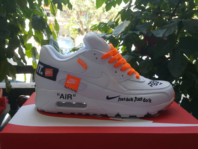 Cheap Wholesale Nike Air Max 90 x Air Max 87 Fushion White Orange Black On www.wholesaleoffwhite.com