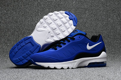 Wholesale Cheap Nike Air Max 95 Rubber Patch Blue Black White - www.wholesaleflyknit.com