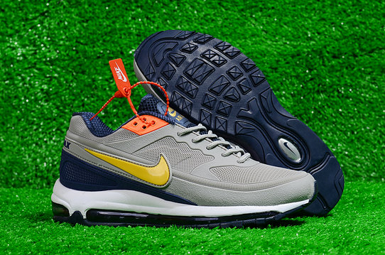 Cheap Wholesale Nike Air Max 97 BW Skepta Grey Gold Navy Blue On www.wholesaleoffwhite.com