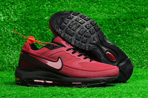 Cheap Wholesale Nike Air Max 97 BW Skepta Wine Red Black On www.wholesaleoffwhite.com